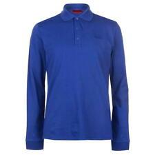 "Hugo Boss Polo Shirt ""Domero"" Long Sleeve Royal Blue Size Medium rrp £69"
