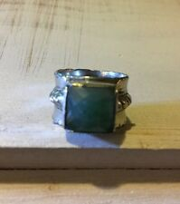 Jewel Kade Ring- Cameo Jade Green- Size 7