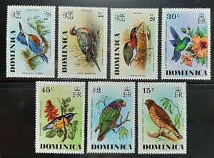 DOMINICA BIRDS 1976 SG 523-529 MNH OG FRESH