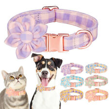Cat Dog Collar Pet Puppy Necklace Cute Floral Bow-tie Necklace for S/M/L Dogs Us