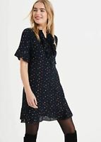 Phase Eight Sarah Star Frill Short Sleeve Dress Navy/Multi Size UK18 RRP95