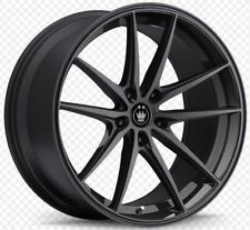 18x8 KONIG OVERSTEER 5x112 +45 Gloss Black Wheels (Set of 4)