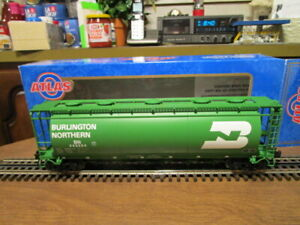 Atlas O 6331-2 Burlington Northern 6-Bay Cylindrical Hopper #443054 in 3-Rail