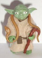 Vintage Star Wars Complete Yoda Brown Snake Action Figure - 1980 - C9+