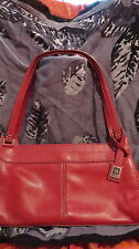 Beautiful red leather Anne Klein Purse, gently used, supple, clean, quality,used
