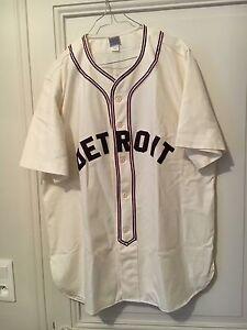 EBBETS FIELD FLANNEL JERSEY Detroit Stars 1945 size L NEW