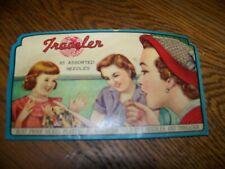 Vintage Packet Traveler Needle Book 85 rust proof nickel plated gold eye assort