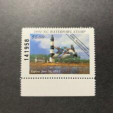 Wtdstamps - 1992 North Carolina - State Duck Stamp - Mint Og Nh