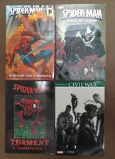 4 Marvel Graphic Novels Spider-Man Spiderman Venom Torment Sandman Civil War