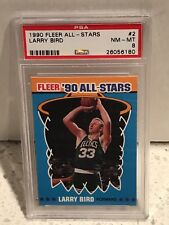 1990 Fleer ALL-STARS #2 - LARRY BIRD - PSA 8 NM-MT - Boston CELTICS