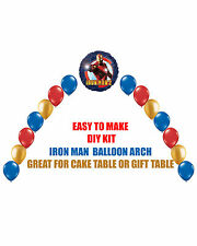 Super Heroes IRON MAN Birthday Party BALLOON ARCH for Cake Table Gift Table