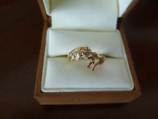 """Lady's ring, solid gold """"nugget"""" style 14k yellow gold . Size 6.5"""