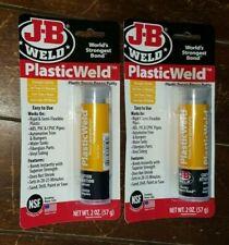 2 X 2 Oz Tubes J B Weld Plastic Weld Plastic Repair Epoxy Putty 350 Psi