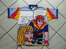 Rare Vintage LOUIS GARNEAU Cycling Jersey Superhero Suffering Race L/XL MINT
