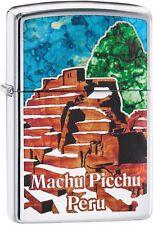 Zippo Choice Machu Picchu Peru WindProof Lighter High Polish Chrome 29496 NEW
