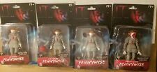 "IT Chapter 2 Pennywise Complete Series 1 Action Figure 5"" Set Of 4 PhatMojo  New"