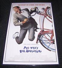Pee Wee's Big Adventure 11X17 Original Movie Poster Paul Reubens Pee-Wee Herman