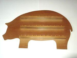 36pc Pig Wooden Thimble Display Rack ( Pine )( huge range - see list )