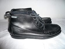 Authentic Sebago Dockside Black leather Boots,UK 8.5