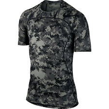 NEW Nike Mens Pro Hypercool Compression Training Shirt, Gray Black Camo, L Large