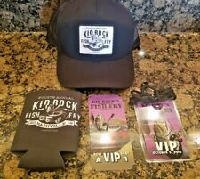 Kid Rock Fish Fry VIP package kit hat coozie general lee Ticket lanyard trucker