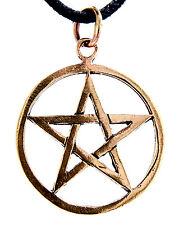Pentagramm Anhänger Bronze weiße Magie Schutz Zauber Hexe Pentagram Pentacle N32