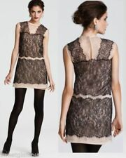 NWT $328 BCBG Maxazria Chantilly Lace & Organza Illusion Cocktail Dress M