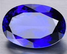 (High quality)13X18mm Oval Shape 13.94ct Top Blue Tanzanite AAAA+Loose Gemstone