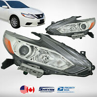 FOR: 2016 2017 2018 NISSAN ALTIMA HEADLIGHTS LAMP HALOGEN PAIR x2 PIECES NEW