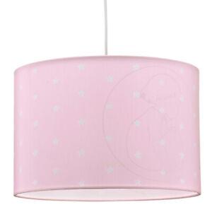 Hängelampe Deckenlampe Kinderzimmer Rosa Sterne Schirm Leuchte Mädchen Baby Kids