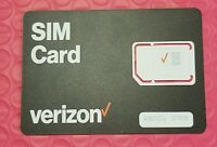 New - Verizon WIreless Universal Sim Card 4G LTE -Nano,Micro,Standard 3 in 1 Sim