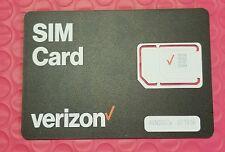 New - Verizon Wireless Universal Sim Card 4G Lte -Nano,Micro,Standard 3 in 1 Sim