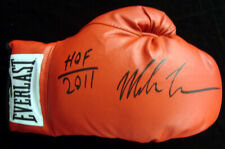 """MIKE TYSON AUTOGRAPHED RED EVERLAST BOXING GLOVE """"HOF 2011"""" RH TRISTAR 28594"""