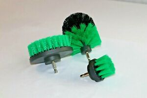 3PCS Drill Brush Set Green Color NEW from US Based seller