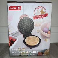 DASH Easter Bunny Mini Waffle Maker in PINK NWT Easter Edition
