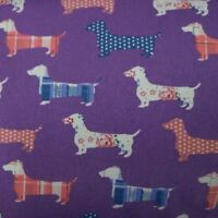 100% Craft Sewing Cotton Patchwork Dog Pet Material Metre Half Meter Fabric UK