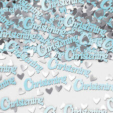 Amscan Blue Metallic Confetti Christening Table Party Sprinkles Boy 14g Baby