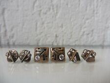 3 Paar schöne ,alte Ohrringe__Ohrstecker__Silber mit Steinen !