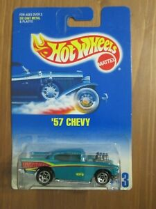 1997 Hot Wheels #213 '57 Chevy - Teal