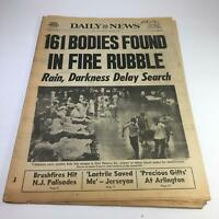 NY Daily News:5/30/77 161 Bodies Found In Fire Rubble Rain,Darkness Delay Search