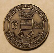 101st Airborne Division 326th Air Assault Engineer Battalion Army Challenge Coin