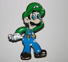 "Super Mario Bros. Video Game Luigi Figure Metal/Enamel Costume 1.375"" Pin"