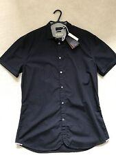 Paul Smith Azul Marino Camisa manga corta - M - P2P 52.1cm