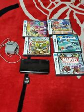 Gray & Black Nintendo 3DS System Console w/ Stylus & SD Card - 5 games Read