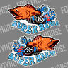 Ford Vinyl Stickers - Super Barra Turbo Orange - Set of 2