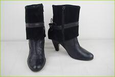 Bottines Boots DONNA PIU Tout Cuir et Daim Noir T 36 BE