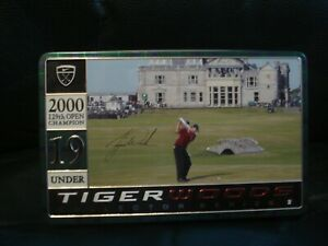 NIKE TIGER WOODS Collector Series 2 Tin Golf Balls 2000 Open Championship EXC.!!
