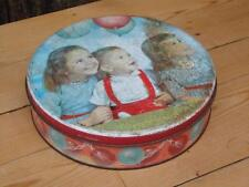 Vintage Cake Tin Meredith and Drew Ltd London Children With Balloons Picture L6
