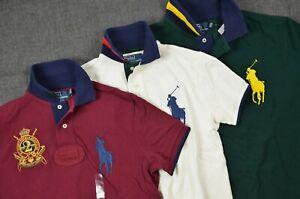 Polo Ralph Lauren Men's Big Pony Custom Fit Mesh Cotton Short-Sleeve Rugby Shirt