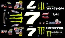 #7 Robby Gordon Monster Energy 2010 Toyota 1/64 - HO Scale Slot Car Decals